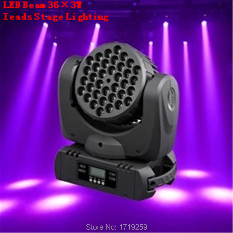 Fast Shipping LED Beam 36x3w Moving Head Light 36x3W RGBW With DMX 11/15 Channels<br><br>Aliexpress