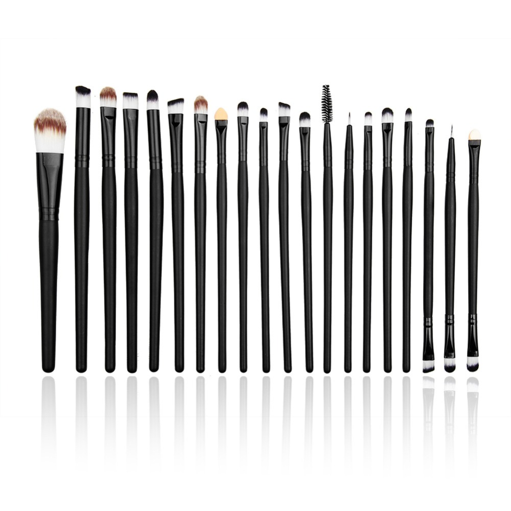 Free Shipping Eye Brushes Set Eyeliner Eye Shadow Eyeshadow Blending Pencil Brush 20PCS Make up Brushes Set(China (Mainland))