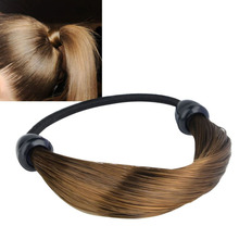 Women Straight/Braid Wig Elastic Hair Band Rope Scrunchie Ponytail Holder new sale(China (Mainland))