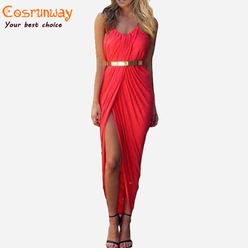 New 2015 Summer Women Neon Asymmetry Slit Beach Dress Ladies Black,White,Red Party Evening Maxi Dresses Sexy Club Vest Dress(China (Mainland))