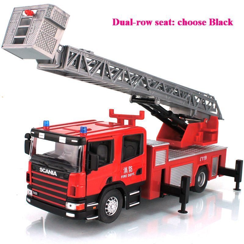 000382 - 3 Choices Toys for Boys 1:32 Big Fire Engine Scalable Ladder Alloy Truck Model Toy for Children Car Model Free Shipping(Hong Kong)