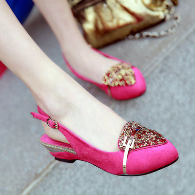 ENMAYER New 2014 brand fashion spring Round Toe womens shoes Wedges Red bottoms high-heeled sandalias women pumps Suede sandals<br><br>Aliexpress