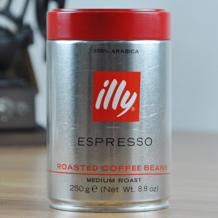 illy espresso coffee beans imported Italian canned baked beans moderately free shipping 250 g cafeteira italiana