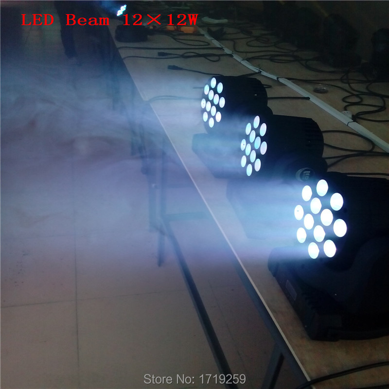 4pcs/lot led beam moving head light 12x12w rgbw 4in1 super bright led moving head light beam dj equipments(China (Mainland))