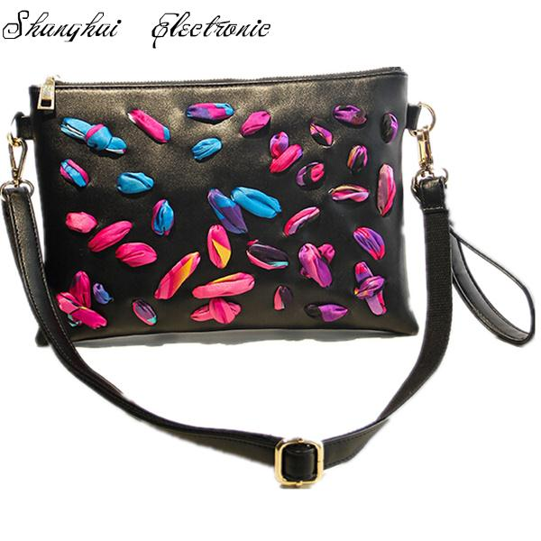2015 women bag petals distinctive personality women messenger bags(China (Mainland))