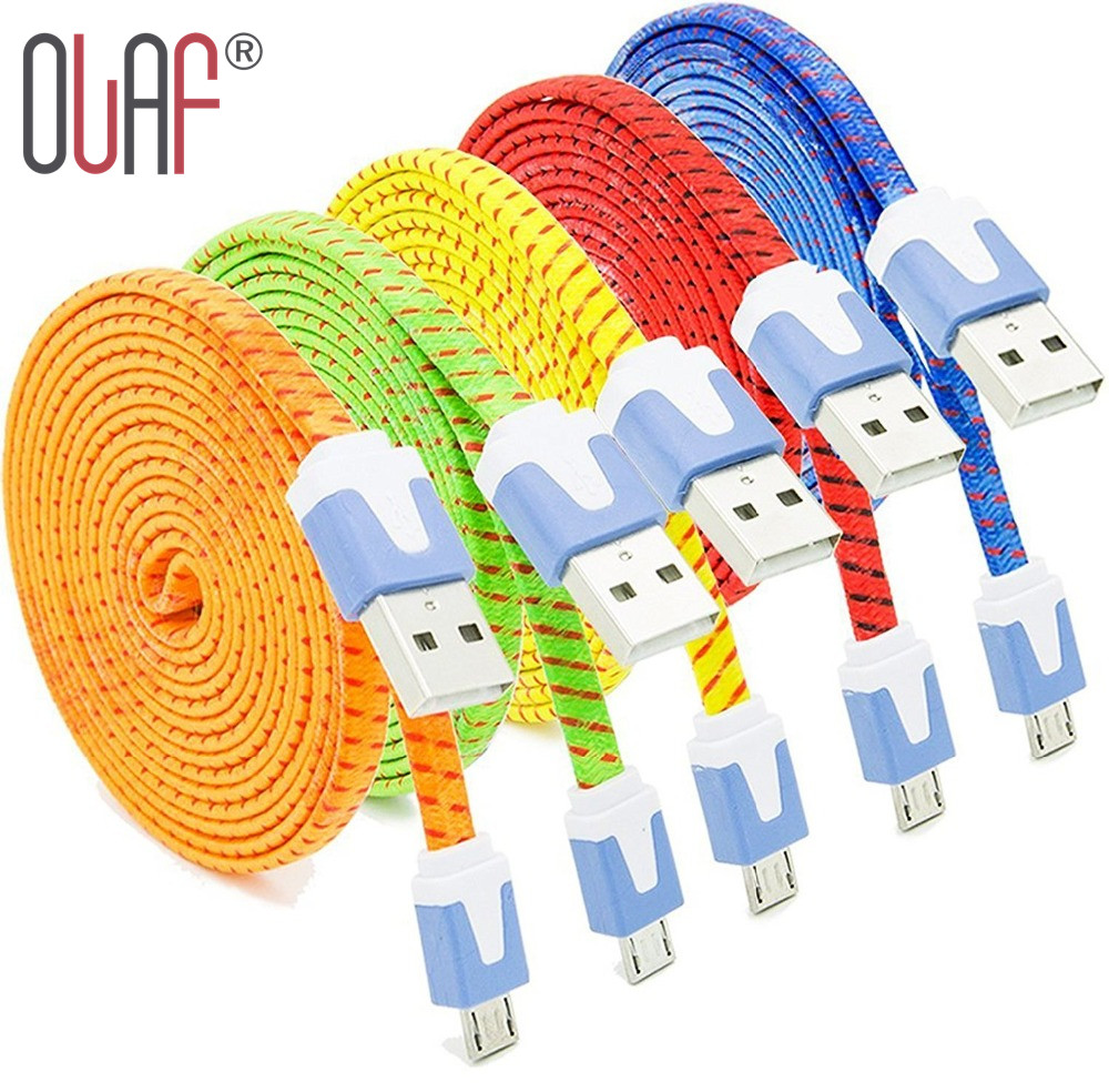 Olaf New Nylon Braided Micro USB 2.0 Data Sync Charging Cord Cable Samsung Galaxy S8 S7 S6 Edge HTC Xiaomi LG Huawei Android