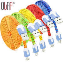 Buy Olaf New Nylon Braided Micro USB 2.0 Data Sync Charging Cord Cable Samsung Galaxy S8 S7 S6 Edge HTC Xiaomi LG Huawei Android for $1.99 in AliExpress store
