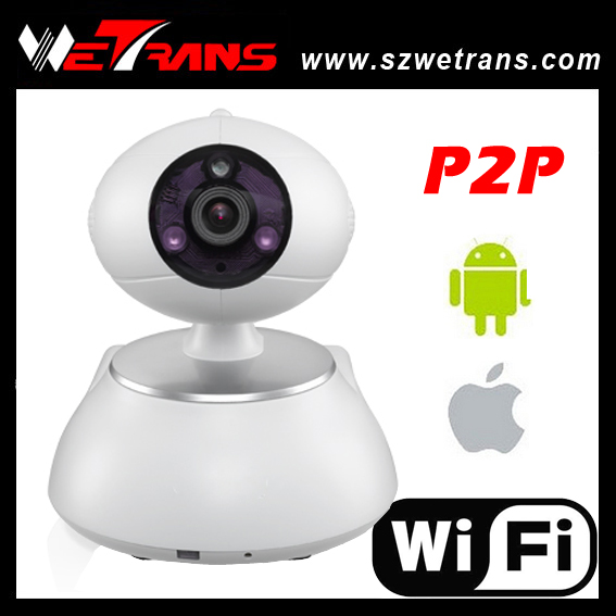 Free Shipping 2015 New HD 1280*720P Support P2P Pan Tilt Wireless IP Camera(China (Mainland))