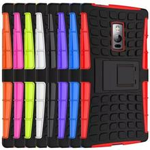 Hybrid Kickstand Rugged Rubber Armor Hard PC+TPU Stand Cover Coque For OnePlus 2 Case Fundas One Plus Two OnePlus Two Phone Case