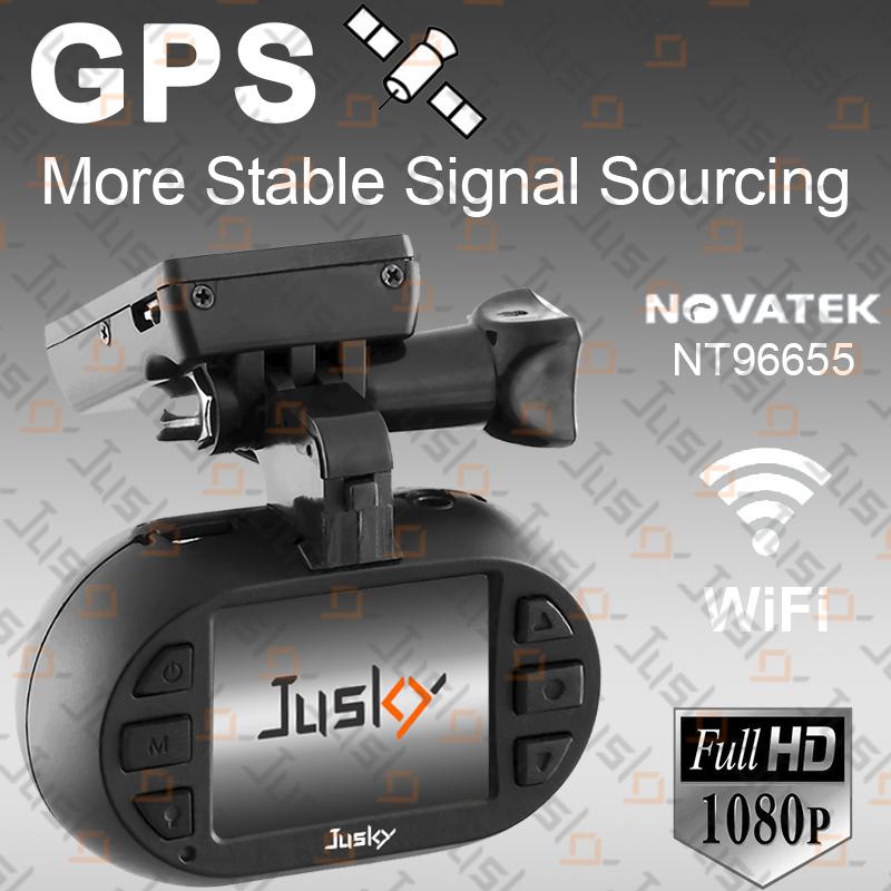 Jusky Mini 0903 Car DVR GPS Novatek 96655 Auto Registrator Video Recorder Full HD 1080P WiFi Dash Cam With Super Night Vision(China (Mainland))