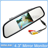 2015 new HD 4.3 inch 16:9 Color TFT LCD Car Rearview Mirror Monitor Screen Car Reverse Monitor