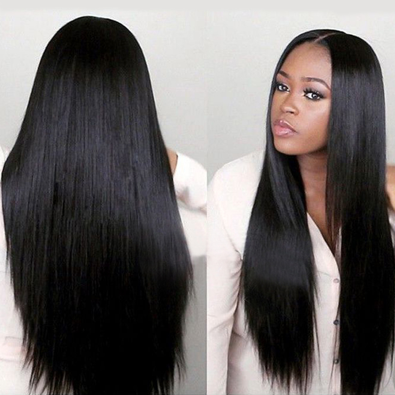 Virgin Indian Human Hair Full Lace Wigs Remy Indian Hair