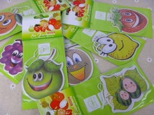 Fruit 12PCS/lot Air freshener paper perfumed car air freshener any shape  Various fruits Apple pear grape orange strawberry Etc.(China (Mainland))