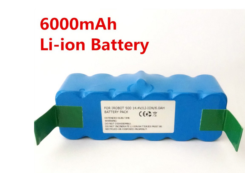 Best 6000mAh Li-ion Battery for iRobot Roomba 500 532 540 550 560 570 580R3 510 535 562 610 700 780 770 760 Vacuum cleaner Sale(China (Mainland))