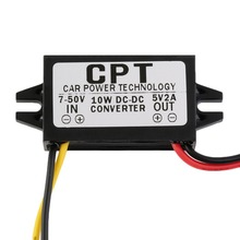 CPT Waterproof 10W DC to DC Converter 5V2A Car LED Power Supply Module(China (Mainland))