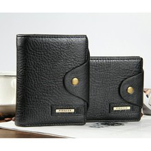 Men Wallets leather Quality Guarantee Leather purse with coin pocket black brwon wallet zipper bag multifunction wholesale price