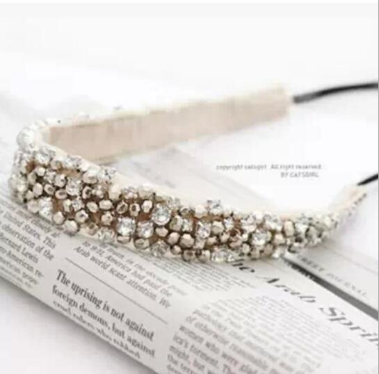 Free shipping 1pcs/lot women headbands with shiny rhinestone fashion female hairbands hair accessories in stock(China (Mainland))