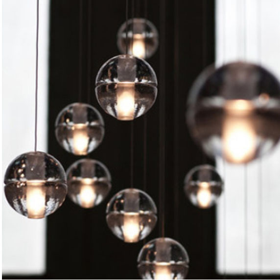 Free shipping LED modern glass magic crystal ball pendant lights restaurant coffee bar pendant lamp dining room kitchen light(China (Mainland))