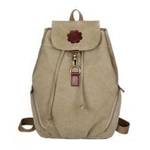Hot Sale Women Vintage Canvas Backpack Students School Bags Girls Travel Backpack