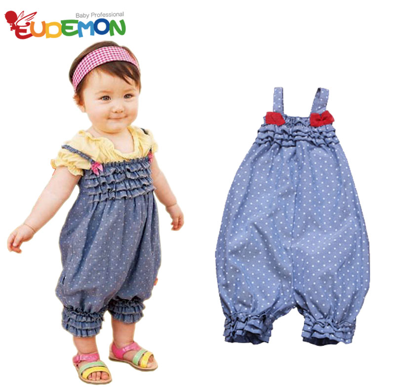 [Eudemon] 2016 summer new kids clothes set Blue baby girl fashion clothes bodysuit Cute Bow infant todller baby clothing girl(China (Mainland))