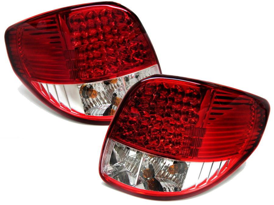 CrazyTheGod  Sedici Sport Hatchback 2005-2012 05-12 LED Rear Tail LIGHT Red/Clear FIAT(China (Mainland))