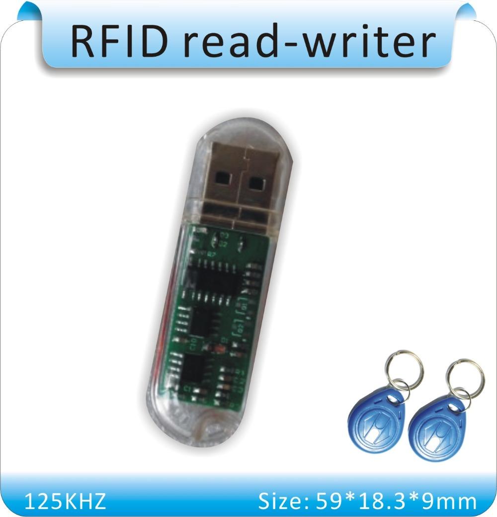 USB диска MINI125KHZ EM4305 писатель-карты /RFID копир/Дубликатор +10шт EM4305 карт+русский программное обеспечение