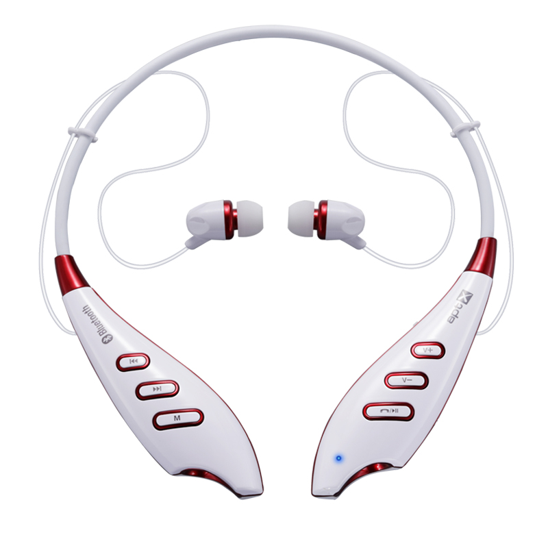 Haoer S740T Bluetooth Neckband Sport In-ear Stereo Earbuds blutooth earphone Headset for Phone PC Computer - white(China (Mainland))