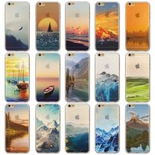 Чехол для iphone 5, $ Пейзаж прозрачный мягкий силиконовый мечта снежная гора чехол для iPhone 5 5S печать задняя часть для iPhone5 5S