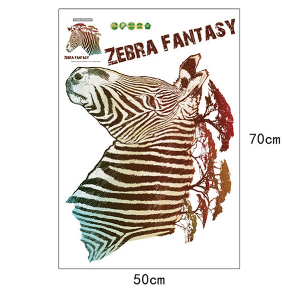 DIY Zebra Fantasy Tree Vinyl Wall Stickers for Kids Room Removable Waterproof Art Decal Poster Nursery Home Decor Lliving Room(China (Mainland))