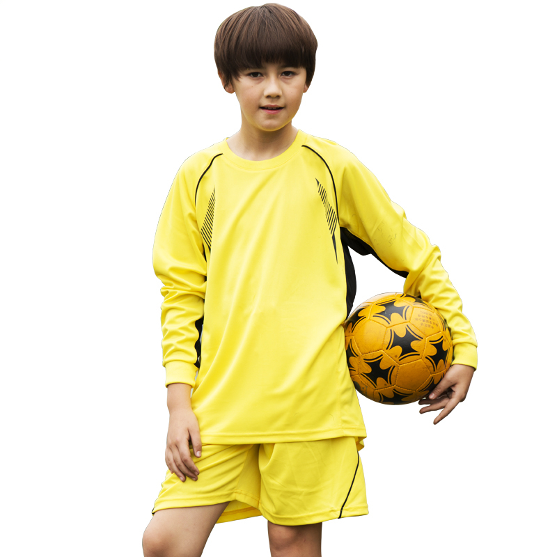 Soccer jerseys 2016 kids men football kits paintless long sleeve jersey customized football training suit jogging soccer jerseys(China (Mainland))