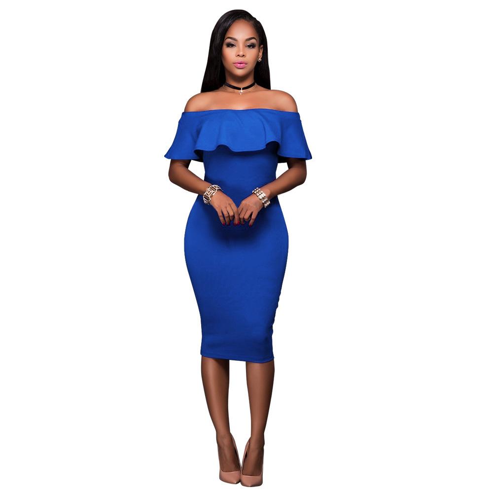 Popular Short Royal Blue Summer Dress-Buy Cheap Short Royal Blue ...