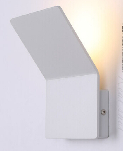 Nordic IKEA 4W Led Wall Lamp White/Black Aluminum Light in the bedroom 110-220V Square ROHS/CE<br><br>Aliexpress