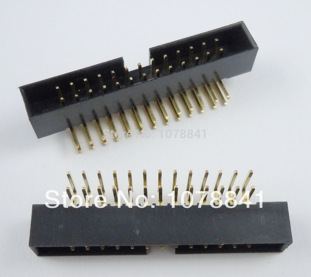 100 Pcs Per Lot 2mm 2x13Pin 26 Pin Right Angle Male Shrouded IDC Box Header Connector<br><br>Aliexpress