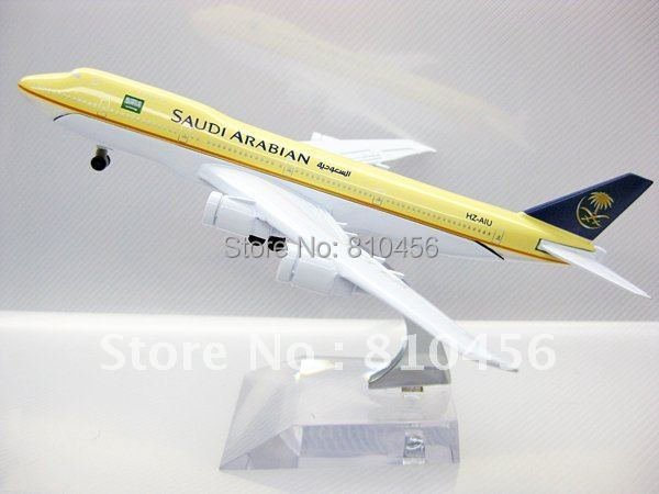 Free Shipping Saudi Arabian airline B747 model 16cm 1:400 metal airplane models,airplane model alloy aircraft model(China (Mainland))