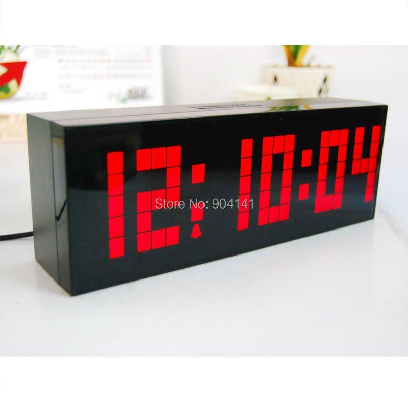 big jumbo led digital wall clocks with light alarm clocks