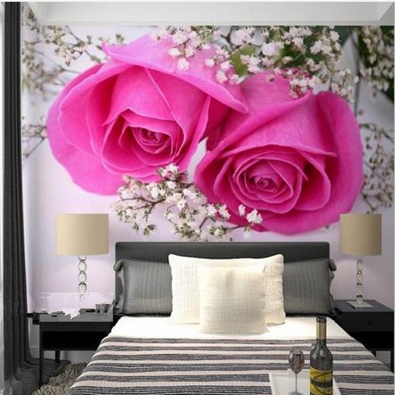 3d stereoscopic wallpaper large mural backdrop wallpaper for 3d rose wallpaper for bedroom
