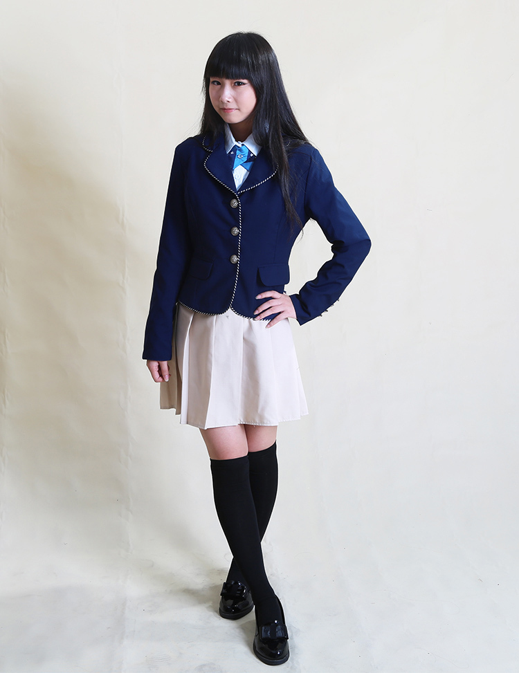 British school uniform for boys and girls autumn and winter uniform small suit jacket And school skirt Height 155-185CM 50(China (Mainland))