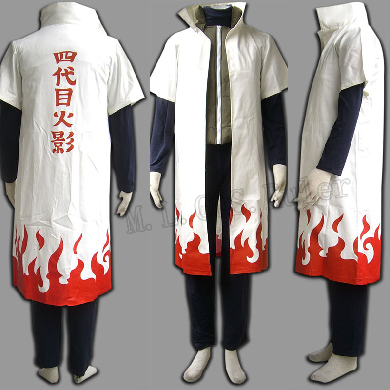 Cartoon Character Japanese Anime Naruto Yondaime Hokage Suit With Full Set(China (Mainland))
