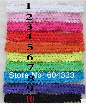 10 pcs 1.5cm Younger Girls Baby Infant Toddler Elastic Lace Headbands Stretcher Headwear Hair Jewelry