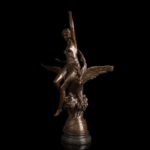 100% handmade Classical  lady and eagle statues large size bronze sculpture for outdoor decoration CZS-208(China (Mainland))