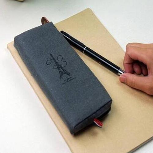 New Retro Canvas Pencil Pen Case Cosmetic Makeup Coin Pouch Zipper Bag Purse<br><br>Aliexpress