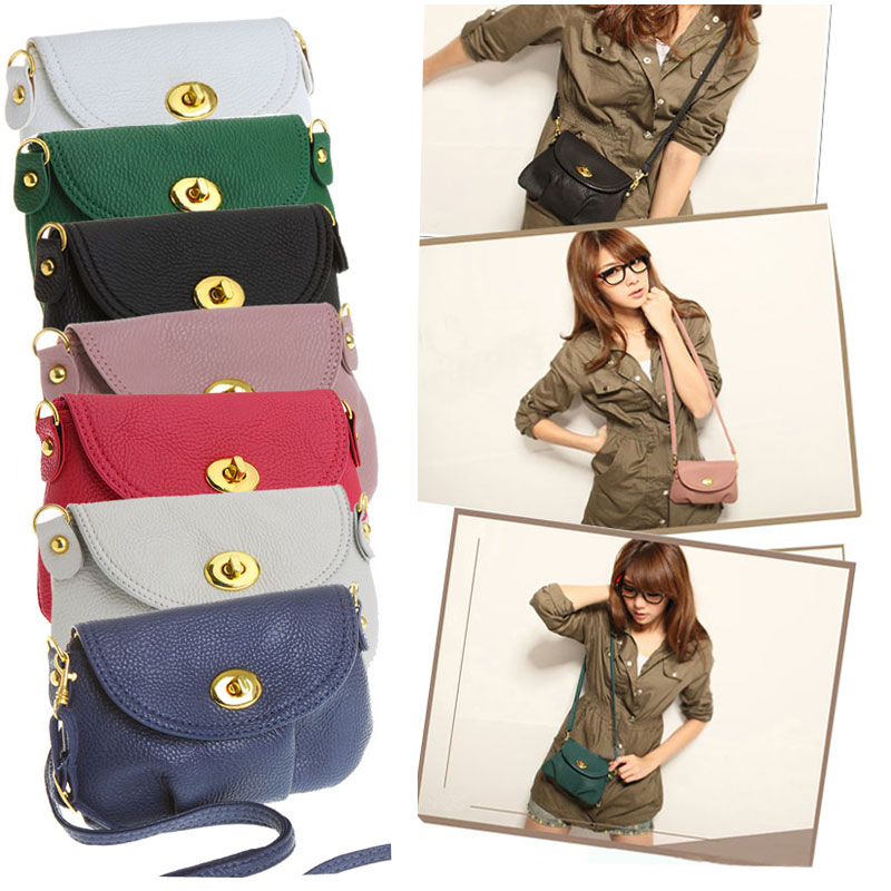 Hot!!! Women's Handbag Satchel Bolsas Femininas Shoulder Leather Messenger Cross Body Bag Purse Tote Mini Small Phone Bags(China (Mainland))