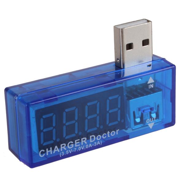 10 pcs Wholesale Portable Digital Display Hot USB Power Mini Current Voltage Tester Detector(China (Mainland))