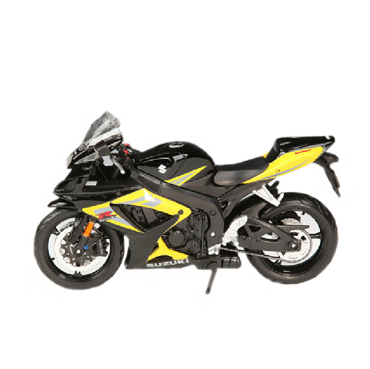 Plastic diecast Motorcycle model for Suzuki gsx-r750 1:12 high speed racing motorbike collection gift toy(China (Mainland))
