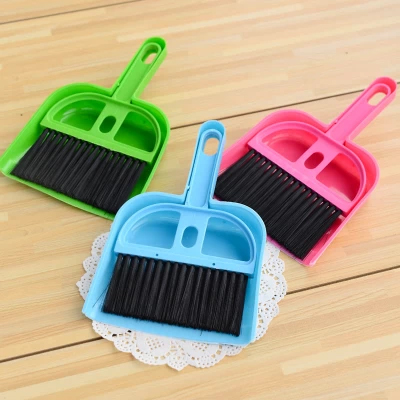 1set Mini Broom Mini Dustpan Cleaning Keyboard Brush table Desktop dustpan cleaner Set(China (Mainland))