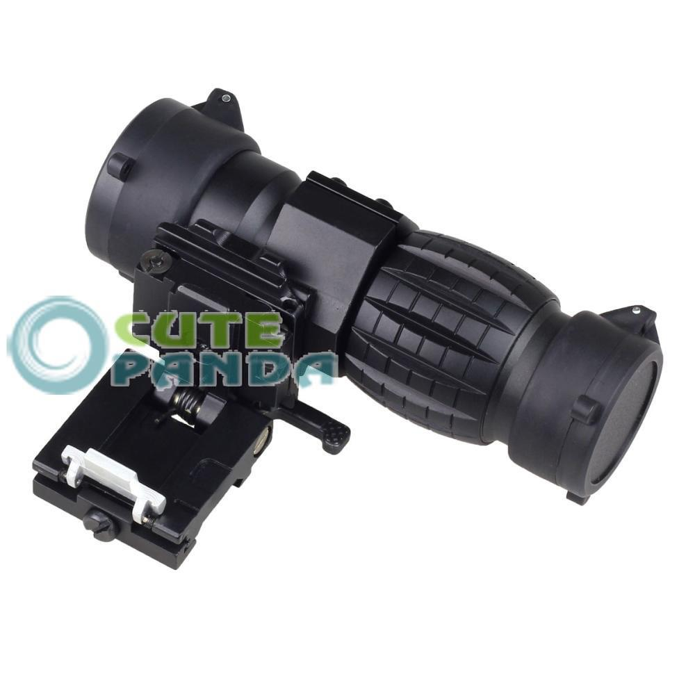 3X Magnifier Quick Release Sniper Hunting Rifle Scope w 20mm Flip to Side Mount free shipping