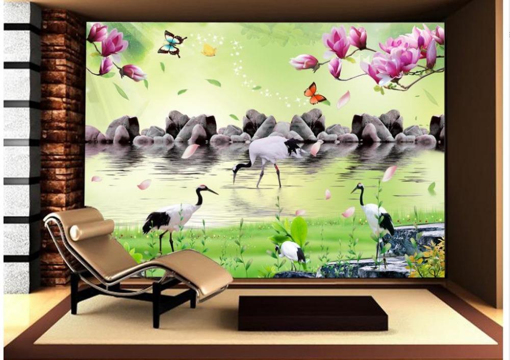 3d wallpaper tv background wallpaper the living room sofa for Wallpaper home improvement