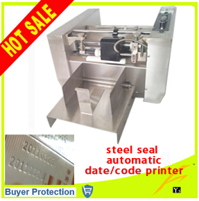 free shipping steel seal automatic expiry date codes printing machine auto plastic bag paper carton paper box case code printer(China (Mainland))