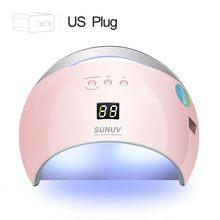 SUNUV SUN6 スマート Led UV ランプドライヤー金属ボトム Lcd タイマー、多色のための硬化 UV ジェルポリッシュネイルアートツール(China)
