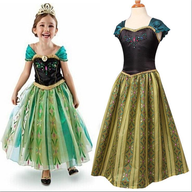 new summer girls wedding dress elsa anna girl princess party costume